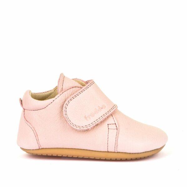 Pantofi barefoot din piele pentru primii pași pink Froddo 5