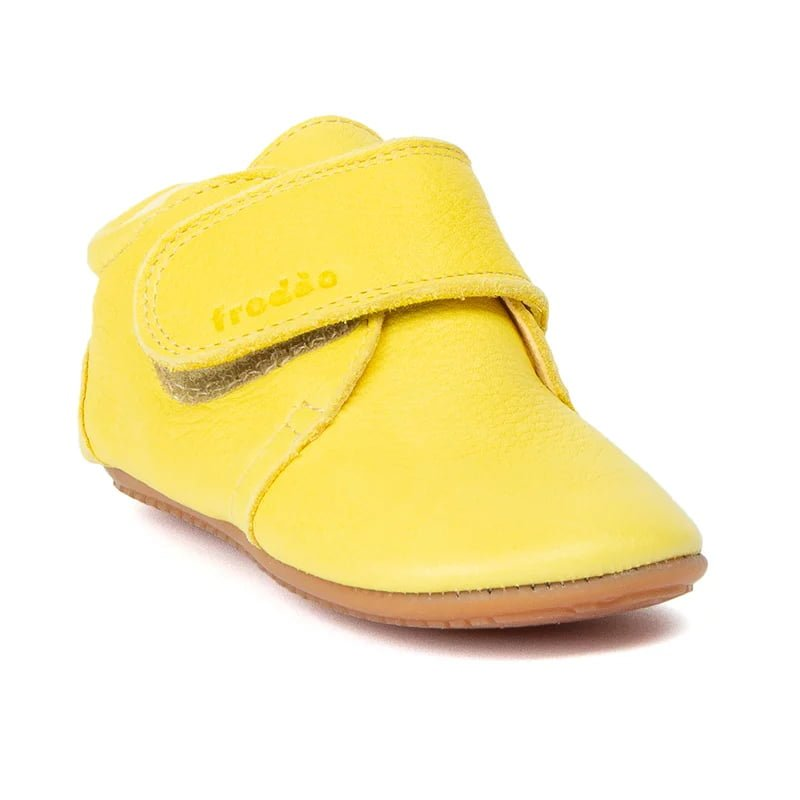 Pantofi barefoot din piele pentru primii pași yellow Froddo 1