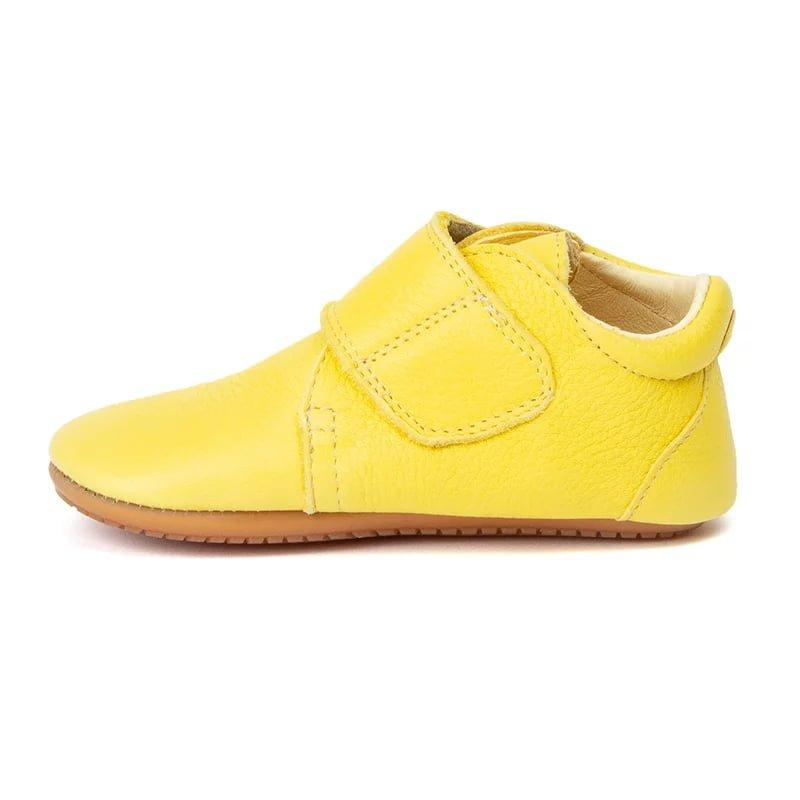 Pantofi barefoot din piele pentru primii pași yellow Froddo 2