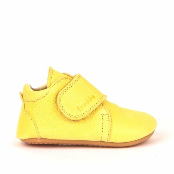 Pantofi barefoot din piele pentru primii pași yellow Froddo