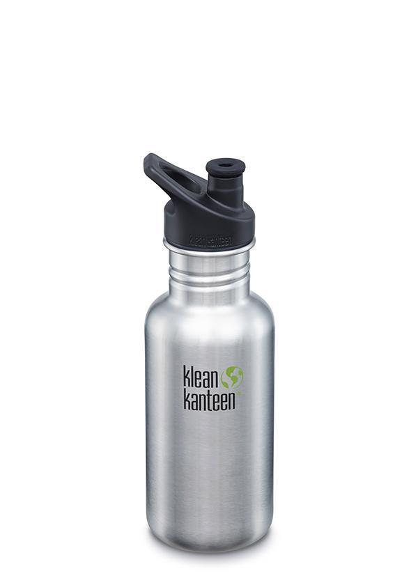 Recipient Sticlă Classic Sport cu capac sport Brushed Stainless 532 ml Klean Kanteen