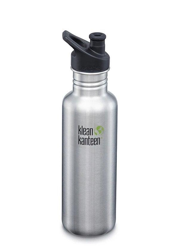Recipient Sticlă Classic Sport cu capac sport Brushed Stainless 800 ml Klean Kanteen