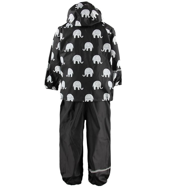 Set de ploaie și vânt (impermeabil) black-white elephants CeLavi 2