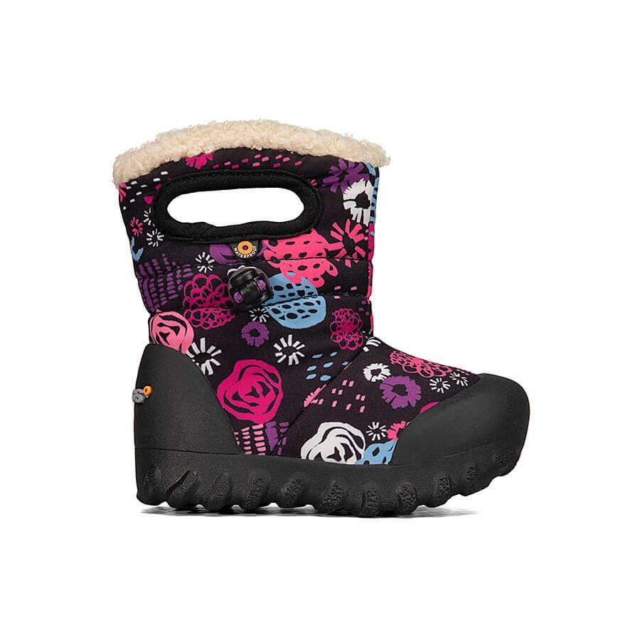 BOGS Footwear cizme de iarnă impermeabile B-MOC Garden Party Black Multi 1