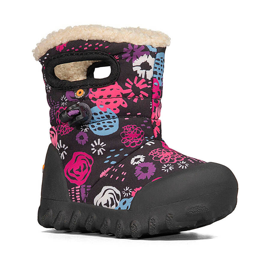 BOGS Footwear cizme de iarnă impermeabile B-MOC Garden Party Black Multi