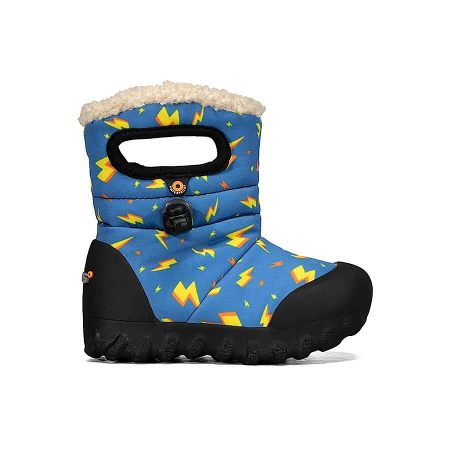 BOGS Footwear cizme de iarnă impermeabile B-MOC Lightning Royal Blue Multi 1
