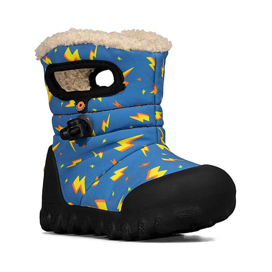 BOGS Footwear cizme de iarnă impermeabile B-MOC Lightning Royal Blue Multi