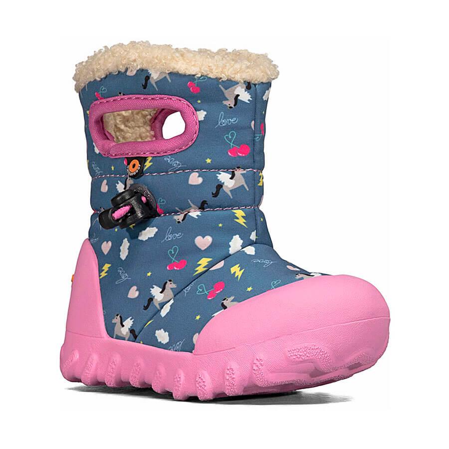 BOGS Footwear cizme de iarnă impermeabile B-MOC Pegasus Dark Blue Multi 1