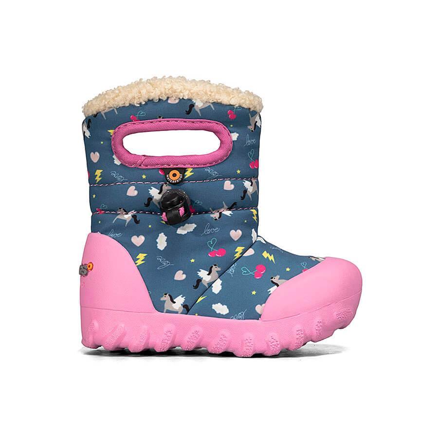 BOGS Footwear cizme de iarnă impermeabile B-MOC Pegasus Dark Blue Multi