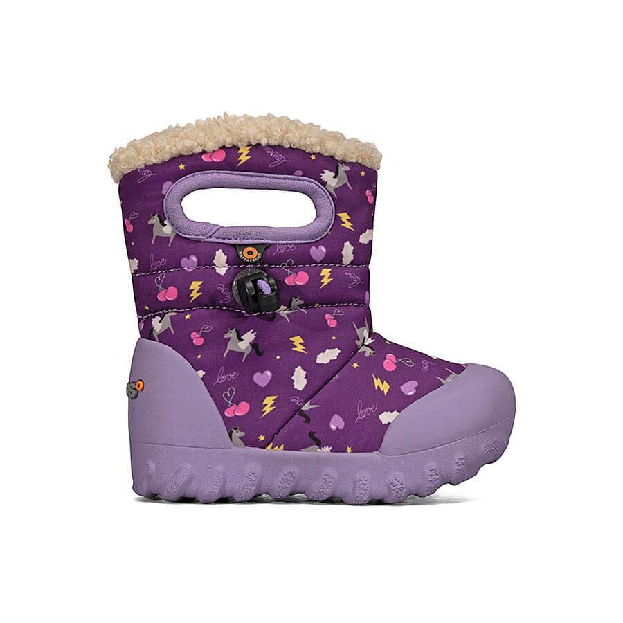 BOGS Footwear cizme de iarnă impermeabile B-MOC Pegasus Purple Multi 1