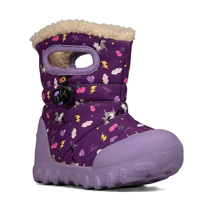 BOGS Footwear cizme de iarnă impermeabile B-MOC Pegasus Purple Multi