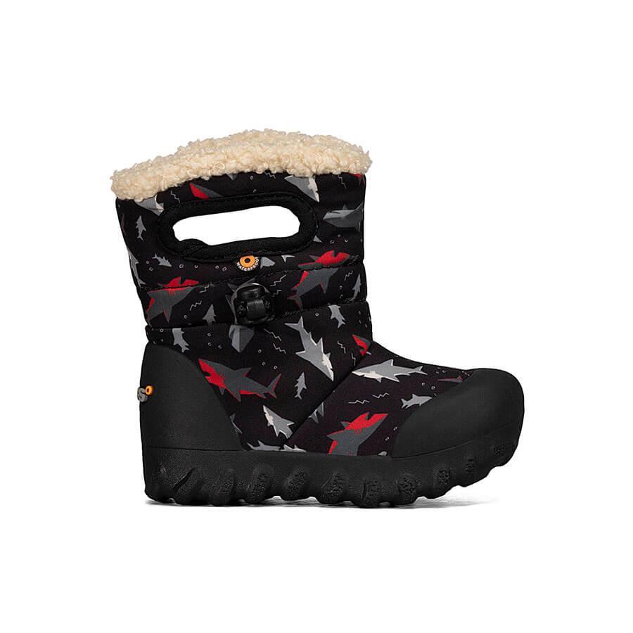 BOGS Footwear cizme de iarnă impermeabile B-MOC Sharks Black Multi 1