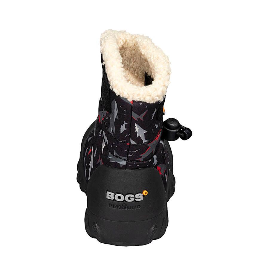 BOGS Footwear cizme de iarnă impermeabile B-MOC Sharks Black Multi 4