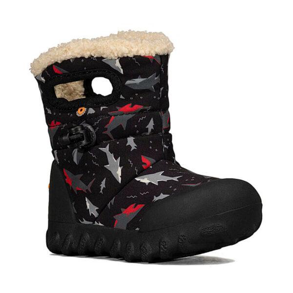 BOGS Footwear cizme de iarnă impermeabile B-MOC Sharks Black Multi