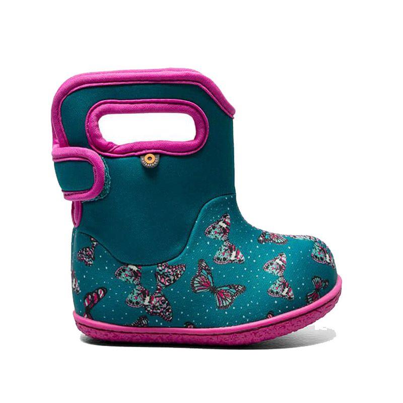 BOGS Footwear cizme de iarnă impermeabile Baby Bogs Butterfly Teal Multi 1