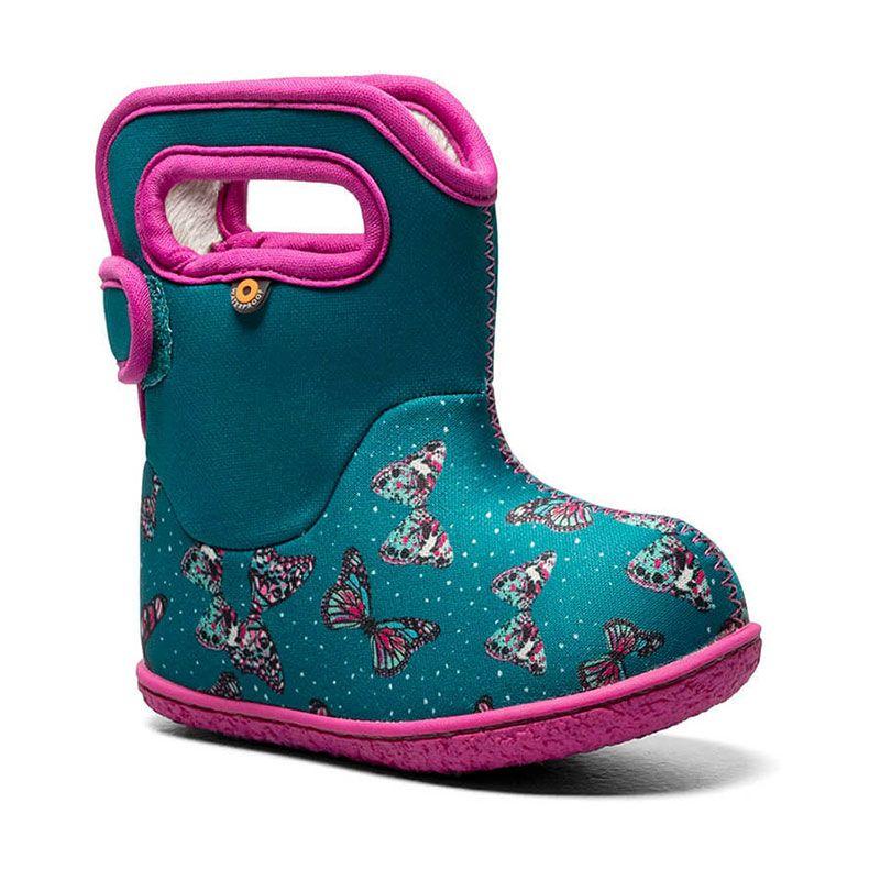 BOGS Footwear cizme de iarnă impermeabile Baby Bogs Butterfly Teal Multi
