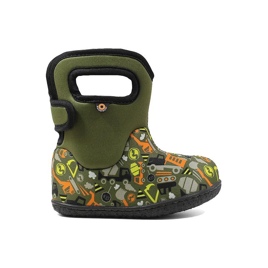 BOGS Footwear cizme de iarnă impermeabile Baby Bogs Construction Green Multi 1