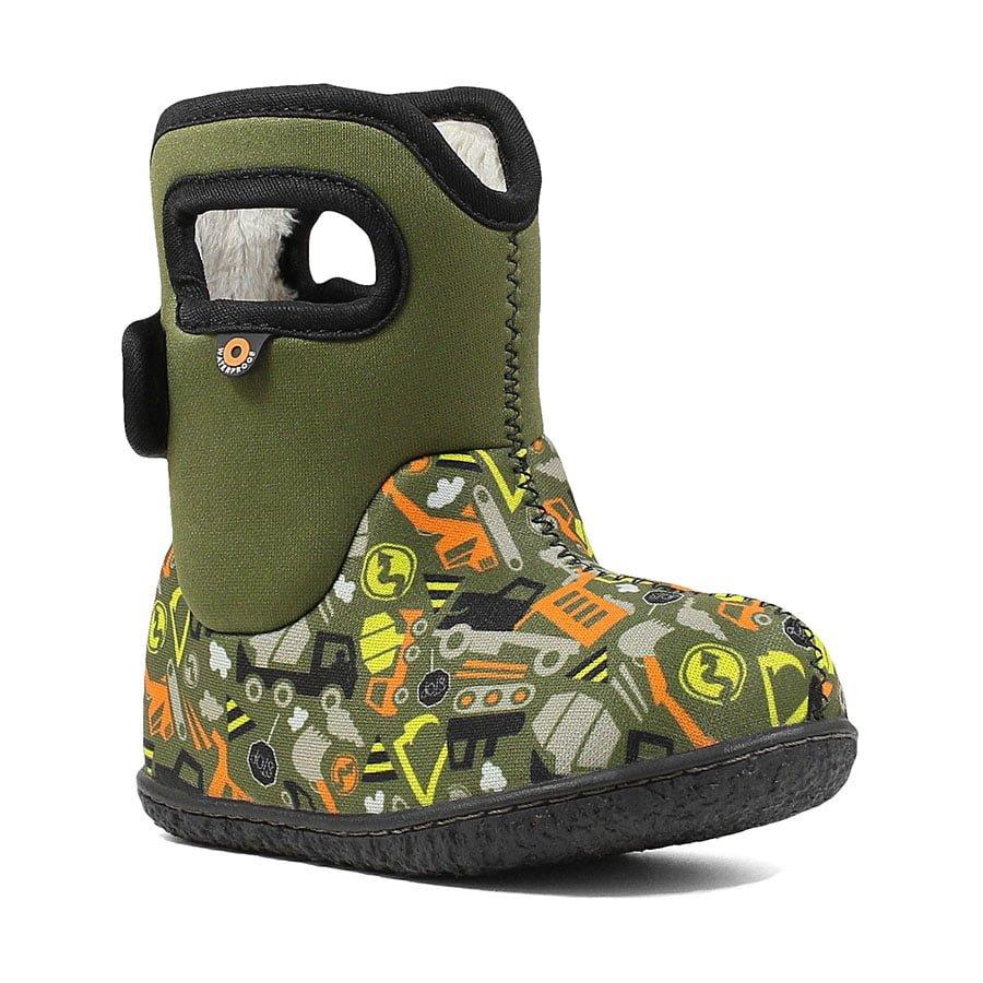 BOGS Footwear cizme de iarnă impermeabile Baby Bogs Construction Green Multi