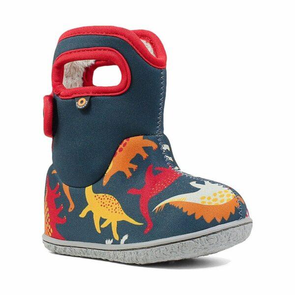 BOGS Footwear cizme de iarnă impermeabile Baby Bogs Dino Indigo Multi