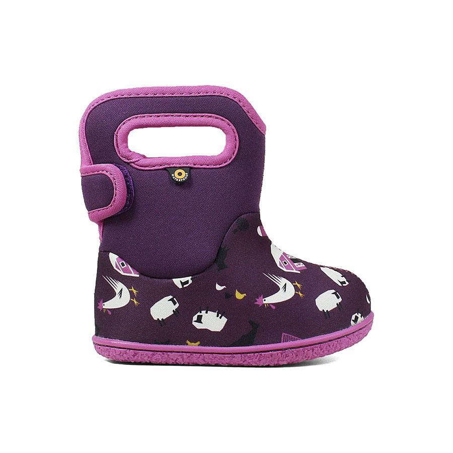 BOGS Footwear cizme de iarnă impermeabile Baby Bogs Farm Purple Multi 1