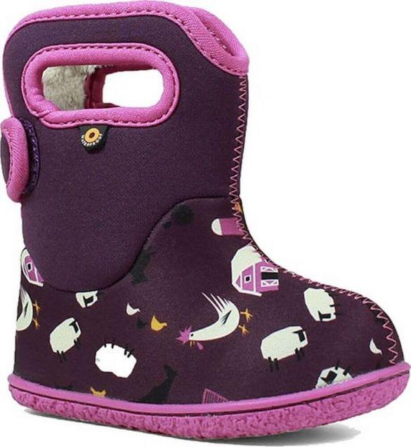 BOGS Footwear cizme de iarnă impermeabile Baby Bogs Farm Purple Multi