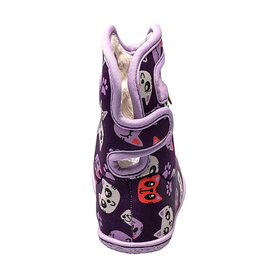 BOGS Footwear cizme de iarnă impermeabile Baby Bogs Kitty Purple Multi 4