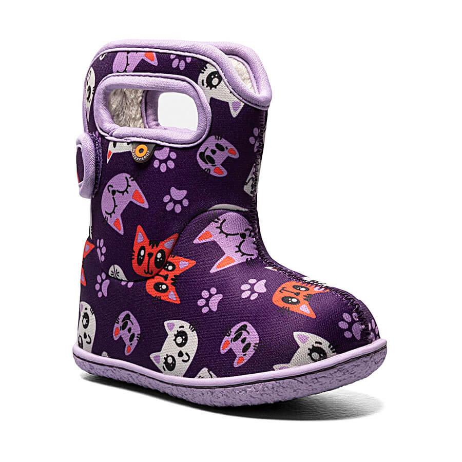 BOGS Footwear cizme de iarnă impermeabile Baby Bogs Kitty Purple Multi