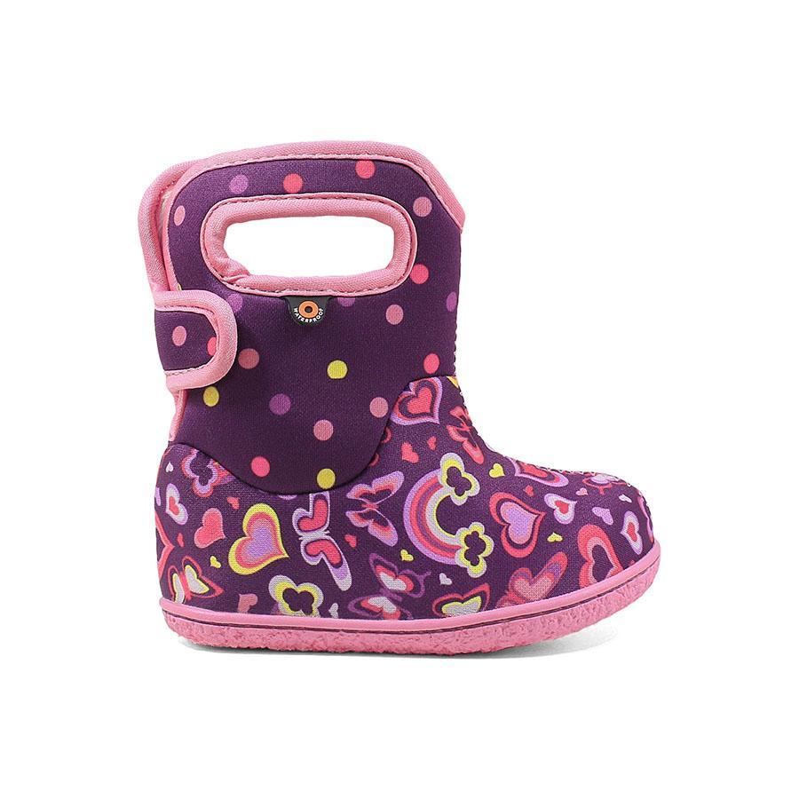 BOGS Footwear cizme de iarnă impermeabile Baby Bogs Rainbow Purple Multi 1