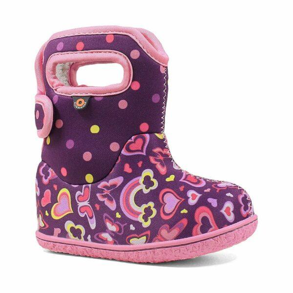 BOGS Footwear cizme de iarnă impermeabile Baby Bogs Rainbow Purple Multi