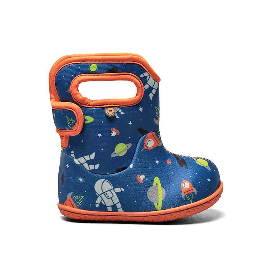 BOGS Footwear cizme de iarnă impermeabile Baby Bogs Spaceman Blue Multi 1