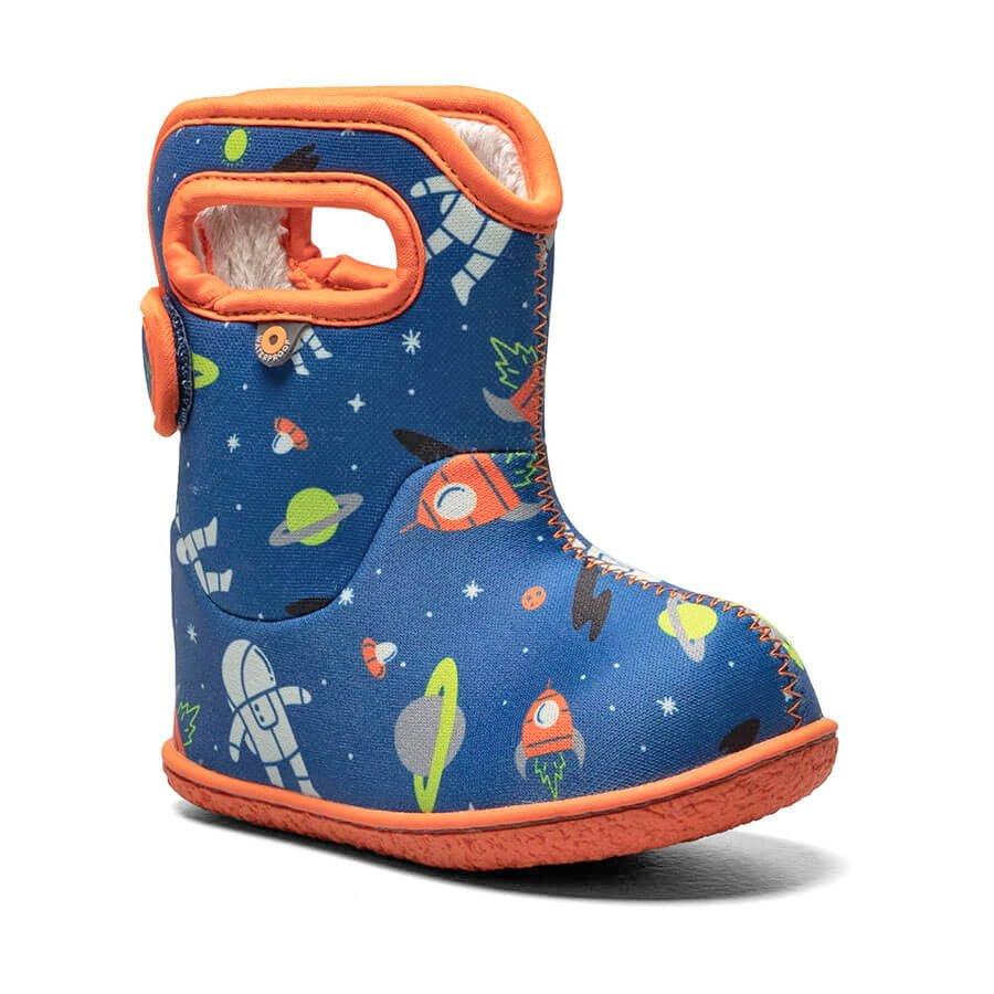 BOGS Footwear cizme de iarnă impermeabile Baby Bogs Spaceman Blue Multi