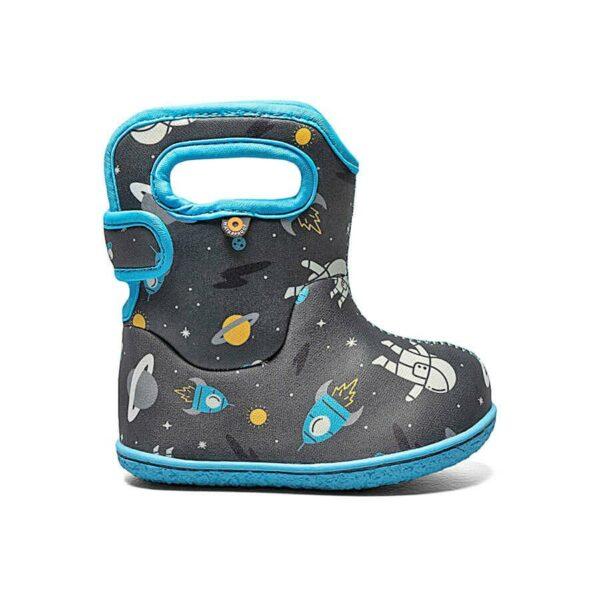 BOGS Footwear cizme de iarnă impermeabile Baby Bogs Spaceman Dark Grey Multi 1