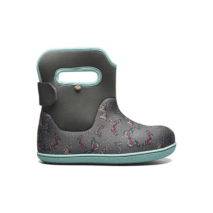 BOGS Footwear cizme de iarnă impermeabile Baby Bogs Youngster Butterfly Dark Grey Multi 1