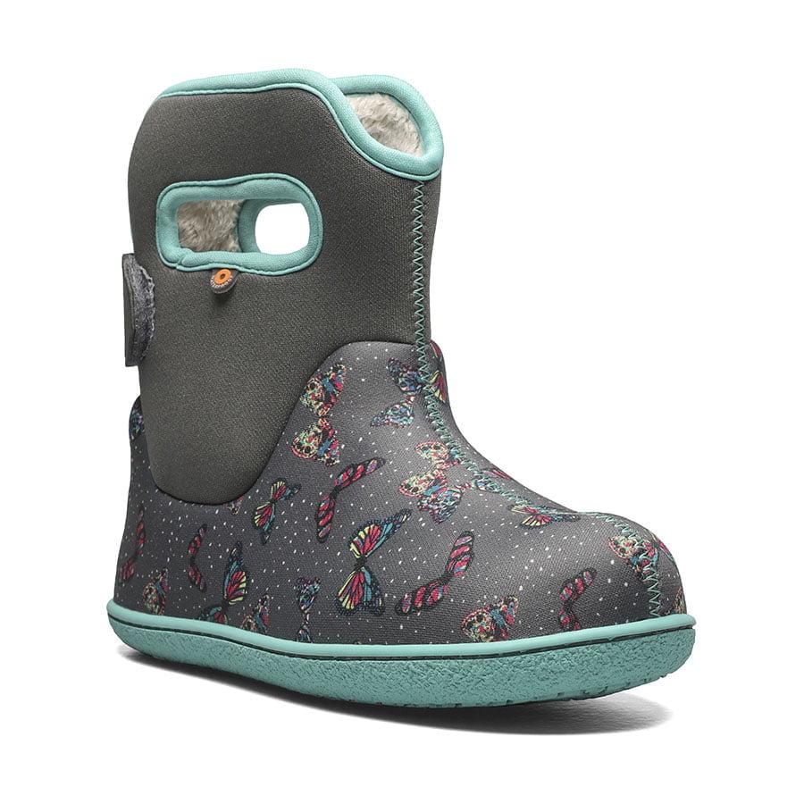 BOGS Footwear cizme de iarnă impermeabile Baby Bogs Youngster Butterfly Dark Grey Multi
