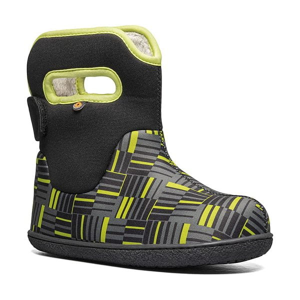 BOGS Footwear cizme de iarnă impermeabile Baby Bogs Youngster Phaser Black Multi