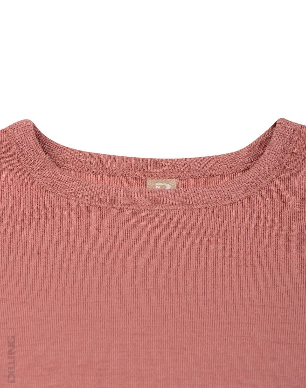 Bluză cu mânecă lungă dark pink din lână merinos organică pentru copii Dilling 1