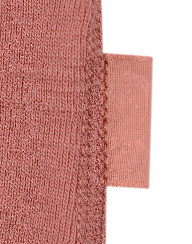 Bluză cu mânecă lungă dark pink din lână merinos organică pentru copii Dilling 2