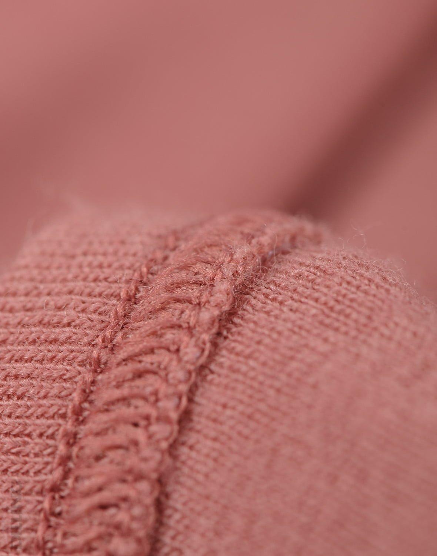 Bluză cu mânecă lungă dark pink din lână merinos organică pentru copii Dilling 3