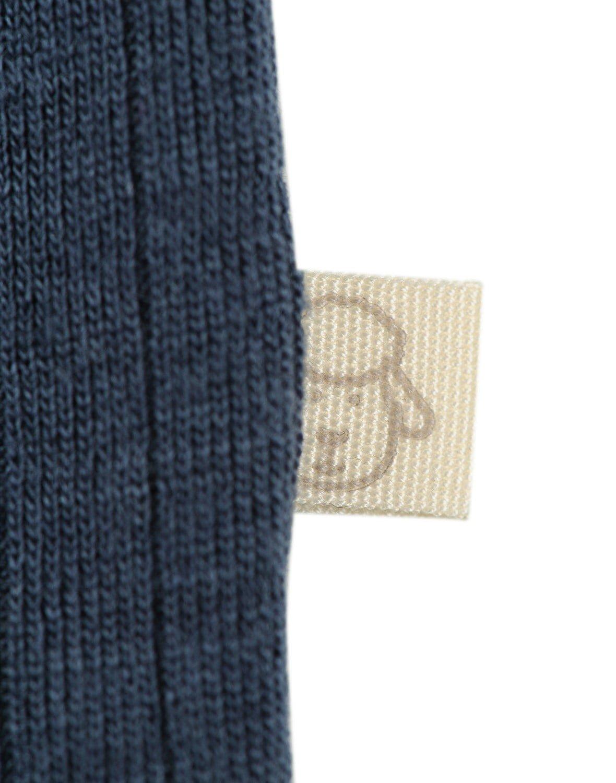 Bluză cu mânecă lungă petrol din lână merinos organică rib pentru bebeluşi Dilling 3