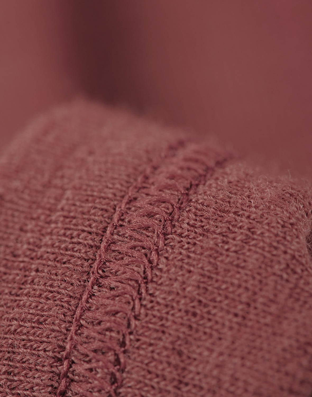 Bluză cu mânecă lungă rouge din lână merinos organică pentru copii Dilling 2