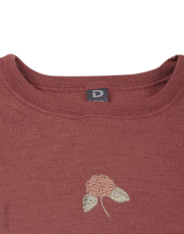 Bluză cu mânecă lungă rouge din lână merinos organică pentru copii Dilling 3