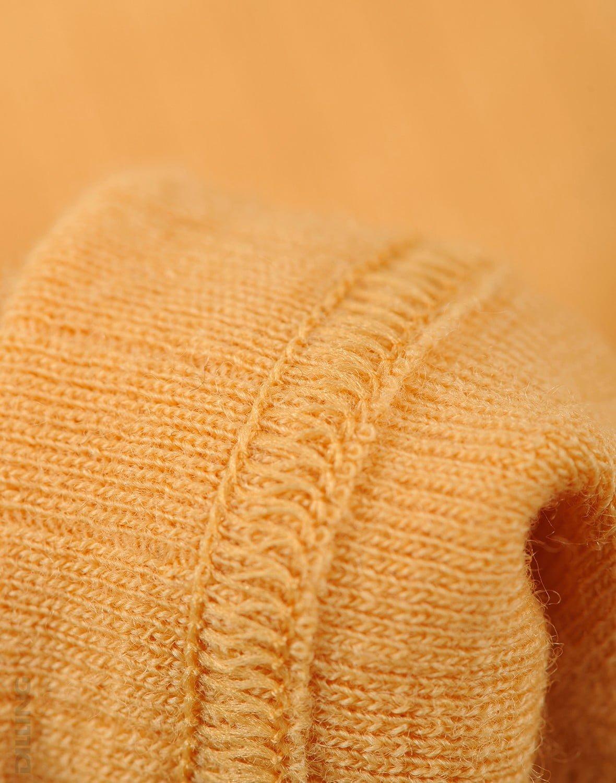 Bluză cu mânecă lungă yellow din lână merinos organică rib pentru bebeluşi Dilling 1