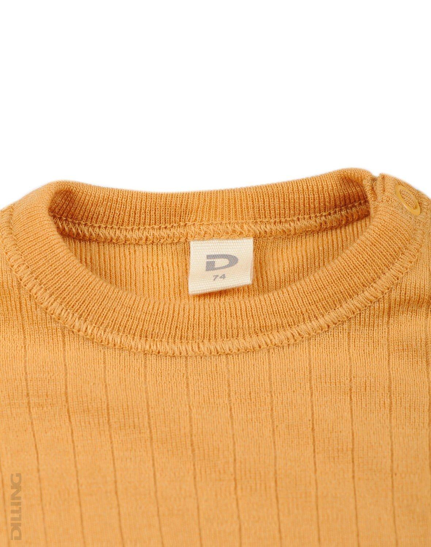 Bluză cu mânecă lungă yellow din lână merinos organică rib pentru bebeluşi Dilling 2