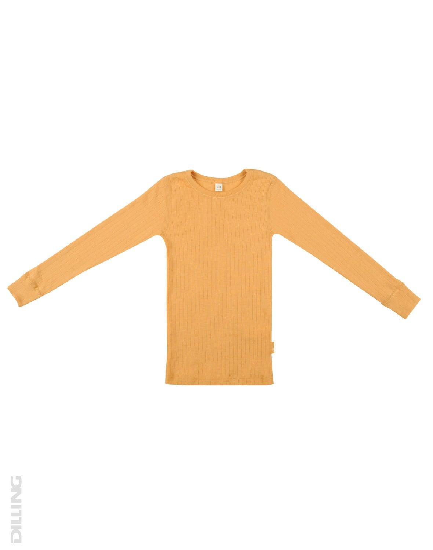 Bluză cu mânecă lungă yellow din lână merinos organică rib pentru copiii Dilling