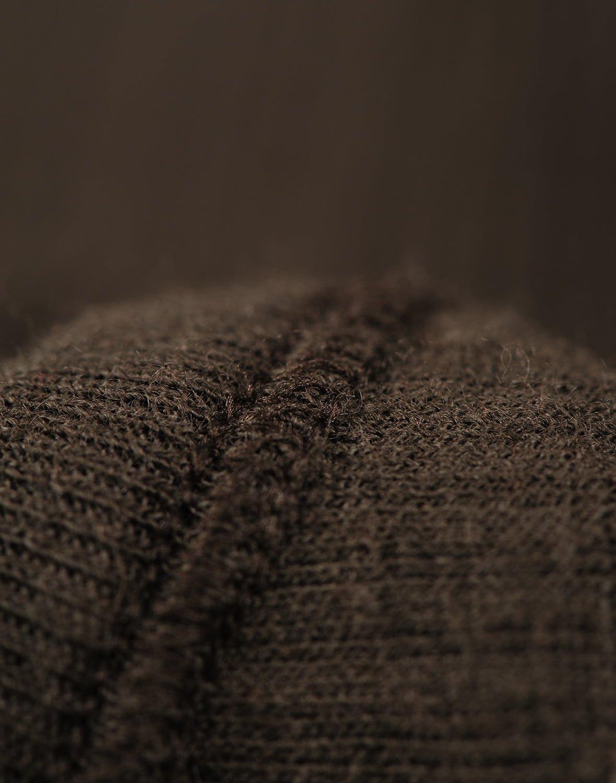 Body cu mânecă lungă chocolate brown din lână merinos organică rib pentru bebeluși Dilling 4