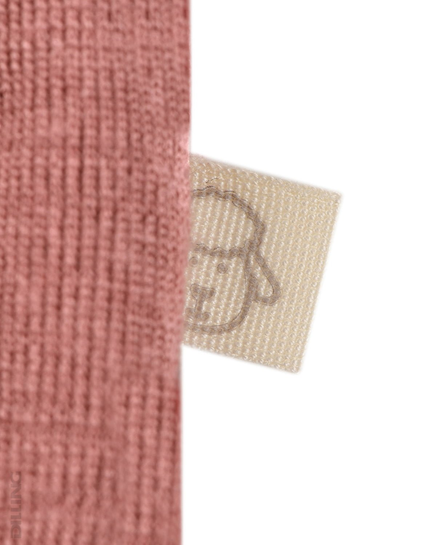 Body cu mânecă lungă dark pink din lână merinos organică pentru bebeluși Dilling 2