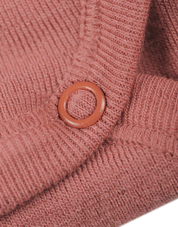 Body cu mânecă lungă dark pink din lână merinos organică pentru bebeluși Dilling 3