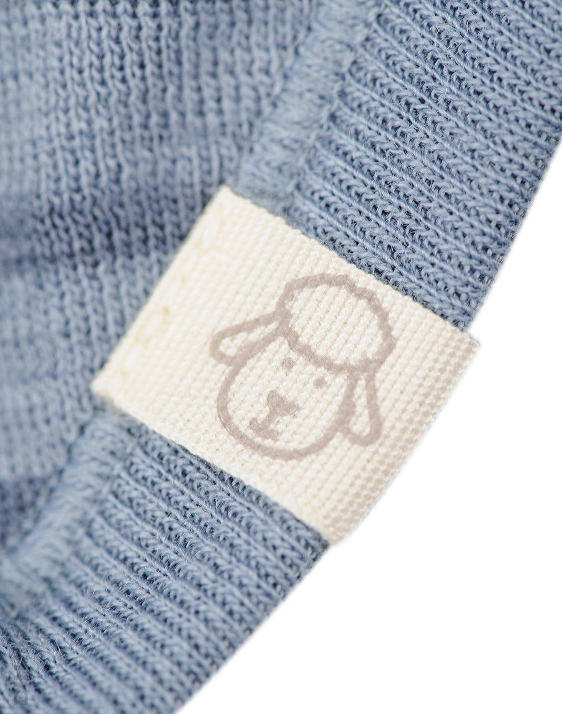 Cagulă blue stripes din lână merinos organică pentru copii Dilling 2
