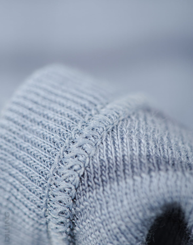 Cagulă blue stripes din lână merinos organică pentru copii Dilling 3