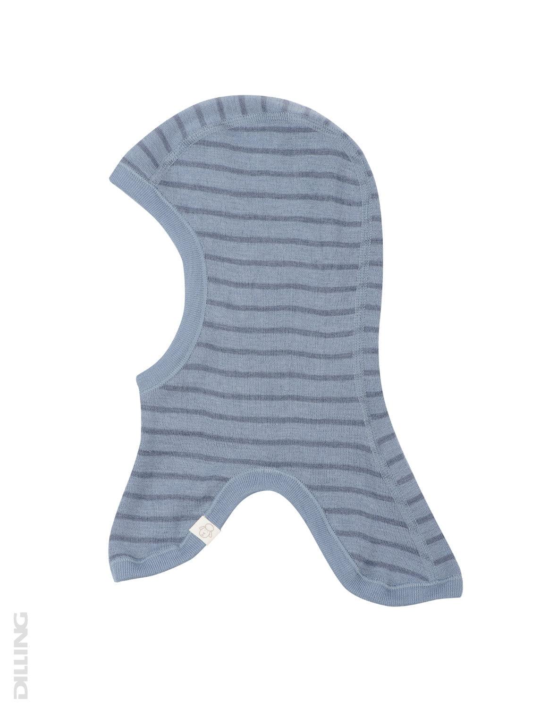 Cagulă blue stripes din lână merinos organică pentru copii Dilling